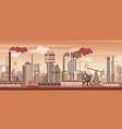 chemical industrial landscape background vector image vector image