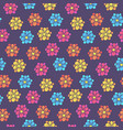 childish pattern with colorful daisy flowers vector image vector image