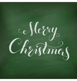 Christmas Chalkboard with lettering vector image