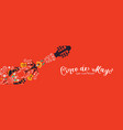 cinco de mayo banner mariachi guitar decoration vector image vector image