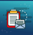 clipboard documents email communication office vector image