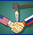 cold war between the usa and russia vector image