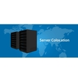 Colocation server web hosting services vector image vector image