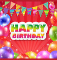 color balloon birthday banner vector image