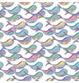 Colorful whale pattern vector image vector image