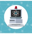 computer laboratory alert technology discovery vector image vector image
