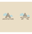 Creative logo on the theme of architecture vector image vector image