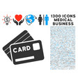 credit cards icon with 1300 medical business icons vector image vector image