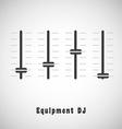 DJ equipment vector image vector image