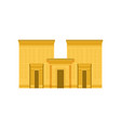 egypt temple ancient egyptian building vector image vector image