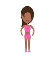 fitness woman cartoon vector image vector image
