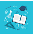 flat education content vector image vector image