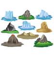 flat set of natural landscape elements vector image vector image