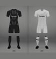 football kit of hoffenheim 2018-19 shirt template vector image