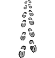 footprints of a shoes vector image vector image