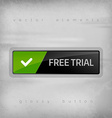 Free Trial Button vector image vector image