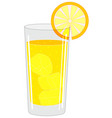 glass with a drink vector image