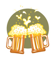 glasses of beervector color symbol of illustration vector image vector image