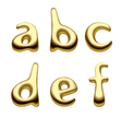 Gold alphabet letters vector image vector image