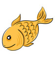 goldfish swimming in water or color vector image vector image