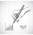 Hand drawing graph vector image vector image