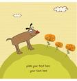 happy little cute dog vector image