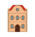 house flat style old european building colored vector image vector image