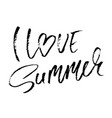 i love summer hand drawn lettering isolated on vector image vector image