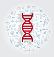 icons for medical specialties genetics and dna vector image