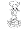 Jerboa chef outline vector image vector image