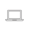 Laptop icon outline device vector image vector image