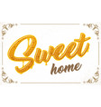 lettering with honeycomb patten vector image