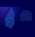 map saint lucia from printed board chip and radio vector image vector image