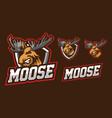 moose mascot logo design vector image vector image