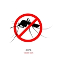 mosquito bite with forbidden sign vector image vector image
