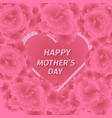 mother s day greeting card with carnation flowers vector image vector image