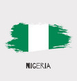 nigeria watercolor national country flag icon vector image vector image