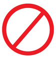 No sign icon vector image vector image