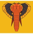Orange and grey low poly elephant vector image vector image
