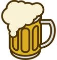 Overflowing Beer Mug vector image