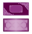 paper horizontal invitation card vector image vector image