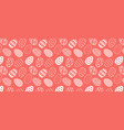 pattern with easter eggs white line pattern on vector image vector image