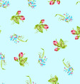 Pattern with sforget-me-not flowers and roses vector image vector image