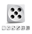 playing dice set different variants game vector image vector image