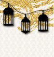 ramadan kareem greeting card calligraphy with vector image