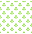 Recycling pattern cartoon style vector image vector image