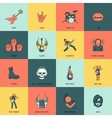 Rock Music Icons Flat Line vector image vector image
