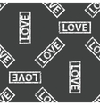 Rubber stamp LOVE pattern vector image vector image
