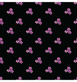 Seamless floral pattern with groups of violet vector image