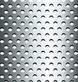 Seamless stainless metallic grid pattern vector image vector image